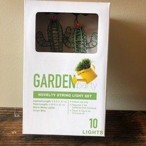 New Garden Party cactus string 10 light set